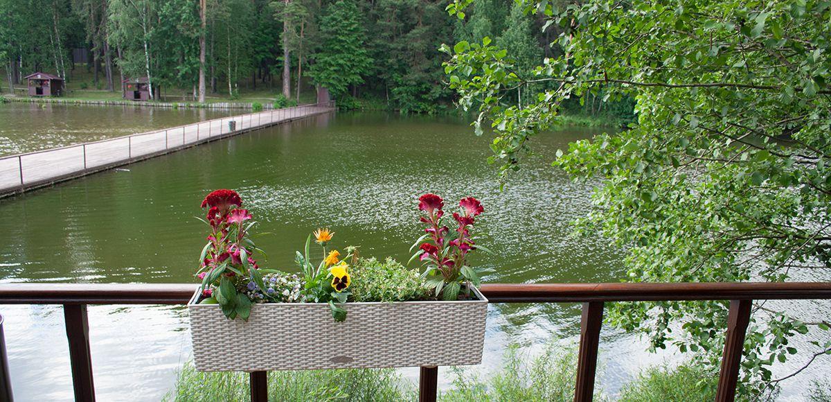 Мост через озеро, КП Елочка